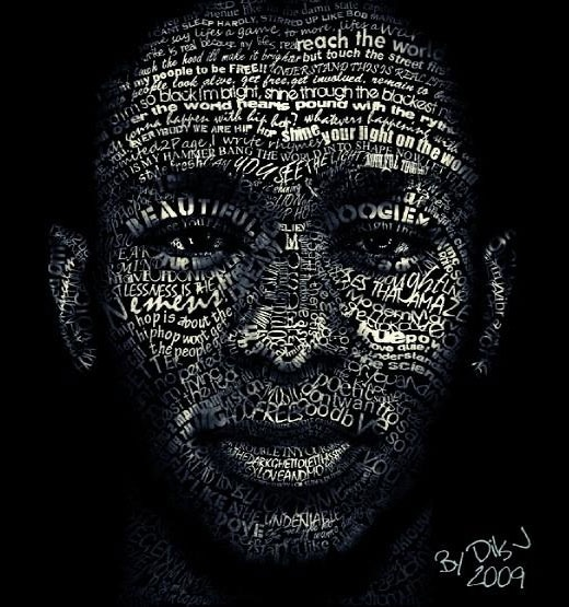typographicportraitsmosdef 25 Beautiful Examples Of Typography Portraits