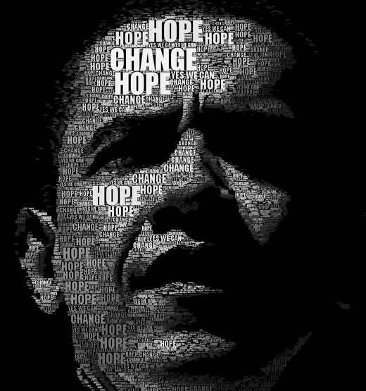 typographicportraitsobama 25 Beautiful Examples Of Typography Portraits