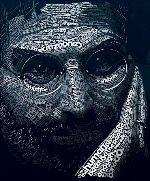 typographicportraitssteven 25 Beautiful Examples Of Typography Portraits