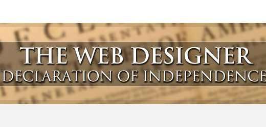 webdesignerdeclarationofindependence Best Of The Web July For Web/Graphic Design