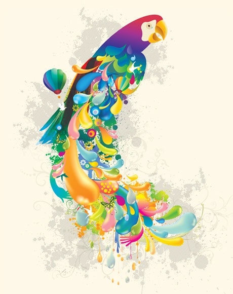 colorbirdvectorinspiration 25 Amazing Inspirational Vector Illustrations