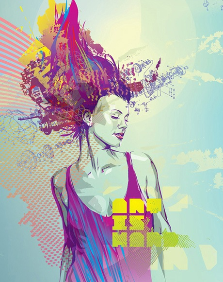 hair 25 Amazing Inspirational Vector Illustrations