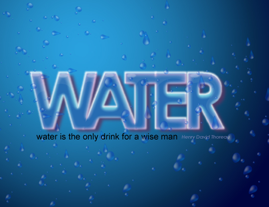 Create a cool water effect text effect tutorial
