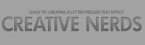 bannerletterpressed Quick Tip: Creating A Letter Pressed Text Effect