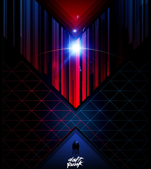daftpunk 25 Beautiful Retro Futurism Designs
