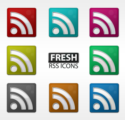 freshrssicons Free Fresh Slick RSS Icon Set