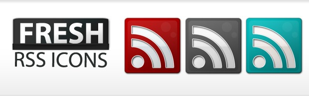 freshrssiconsbanner Free Fresh Slick RSS Icon Set