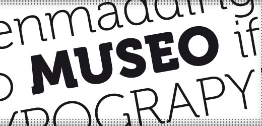 museo 30 Free Fonts Which Are Perfect For Professional Logo Designs
