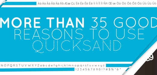 quicksand 30 Free Fonts Which Are Perfect For Professional Logo Designs