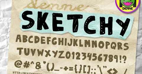 sketch 50 Best Free Fonts From 2009