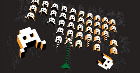 spaceinvaders The Best Illustrator Tutorials For Creating 3d Effects