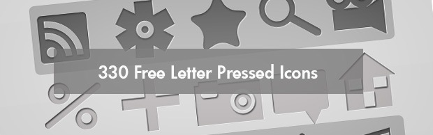 letterpressediconsbanner 330 Free Letter Pressed Icons