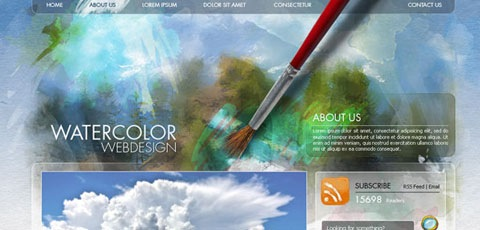 watercolorsitedesign Best Of The Web December For Web/Graphic Design
