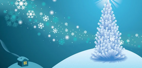 whiteholidayscene1 Best Of The Web December For Web/Graphic Design