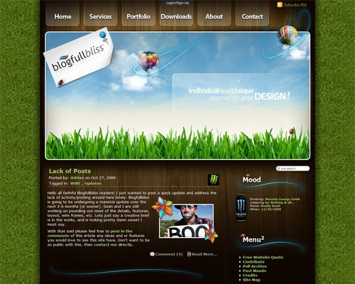 blogfullbliss 50 Most Amazing Beautiful Blog Designs