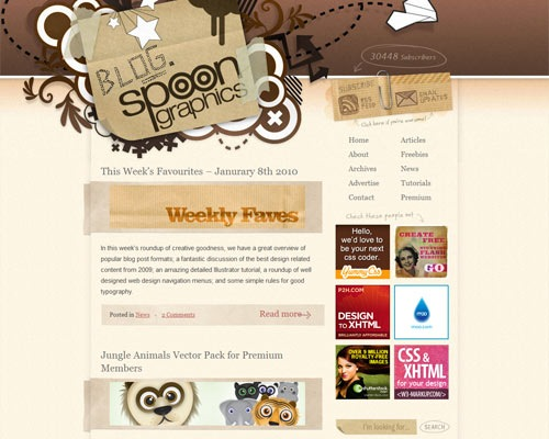 blogspoon 50 Most Amazing Beautiful Blog Designs