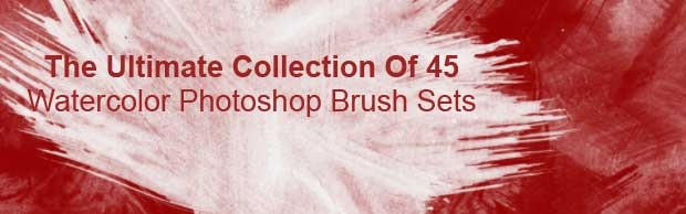 brushesbanner The Ultimate Collection Of 45 Watercolor Photoshop Brush Sets
