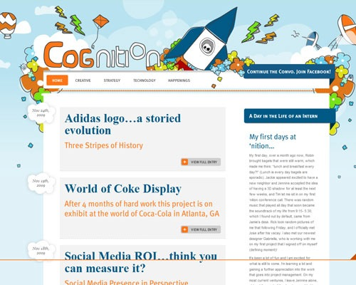 cogniption 50 Most Amazing Beautiful Blog Designs