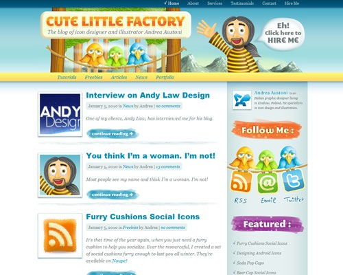 cutelittlefactory 50 Most Amazing Beautiful Blog Designs