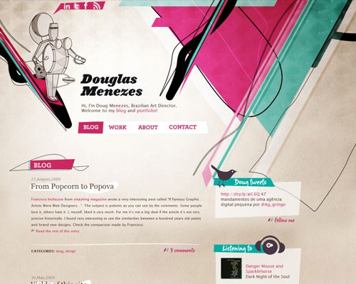 dougasmenez 50 Most Amazing Beautiful Blog Designs