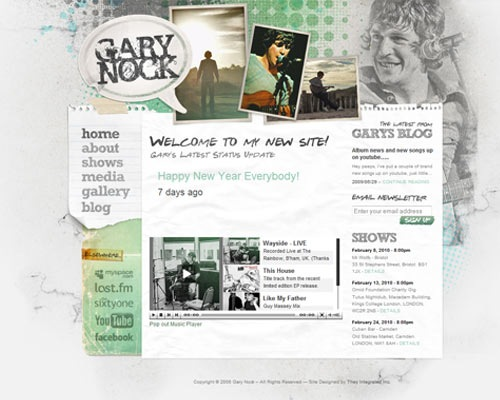 garynock 50 Most Amazing Beautiful Blog Designs