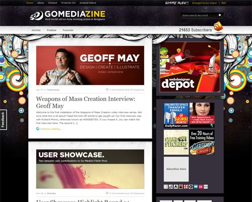 gomedia 50 Most Amazing Beautiful Blog Designs