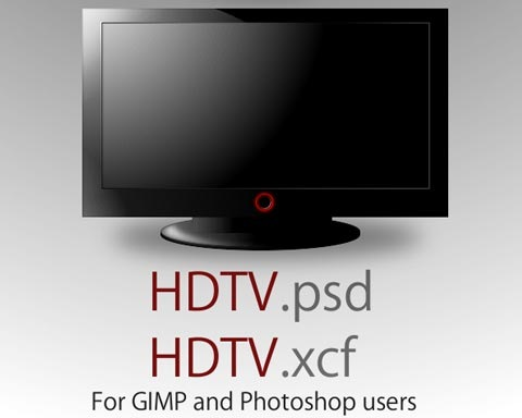 hdtv 70 Free High Quality PSD File Design Resources