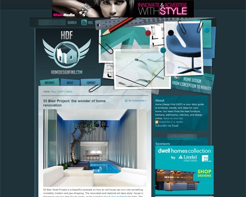 homedesignfindjpg 50 Most Amazing Beautiful Blog Designs