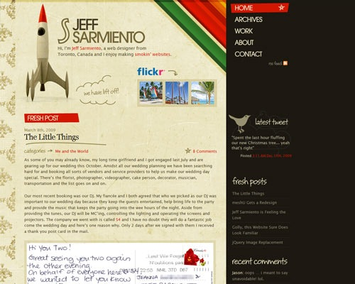 jeff 50 Most Amazing Beautiful Blog Designs
