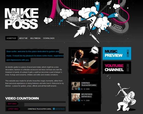 mikeposs 50 Most Amazing Beautiful Blog Designs