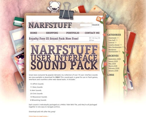 narstuff 50 Most Amazing Beautiful Blog Designs