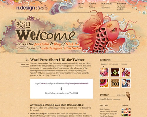 ndesign 50 Most Amazing Beautiful Blog Designs