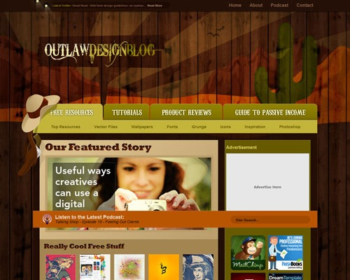 outlawdesign 50 Most Amazing Beautiful Blog Designs