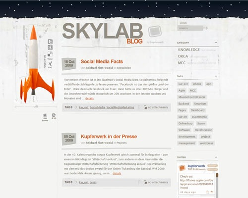 skylab 50 Most Amazing Beautiful Blog Designs