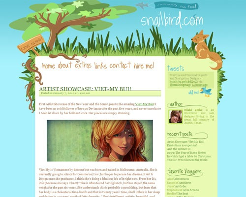snail 50 Most Amazing Beautiful Blog Designs