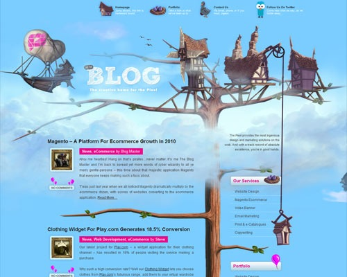 thepixel 50 Most Amazing Beautiful Blog Designs