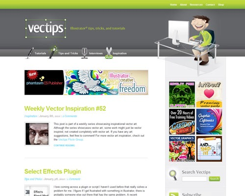 vectips 50 Most Amazing Beautiful Blog Designs