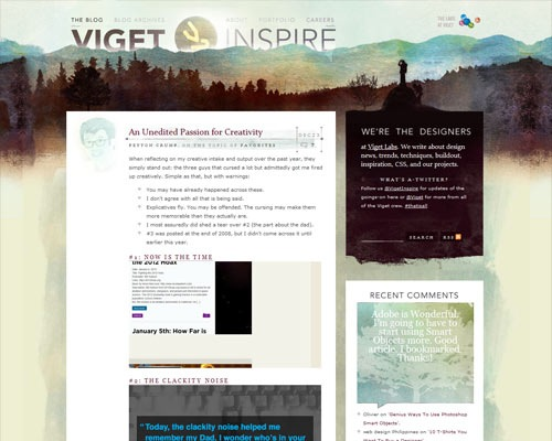 viget1 50 Most Amazing Beautiful Blog Designs