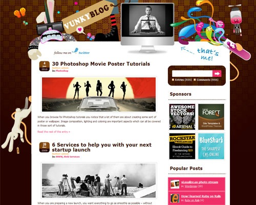 vunky 50 Most Amazing Beautiful Blog Designs
