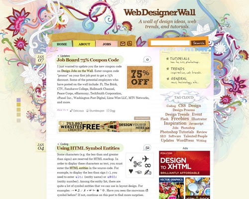 wdwall 50 Most Amazing Beautiful Blog Designs