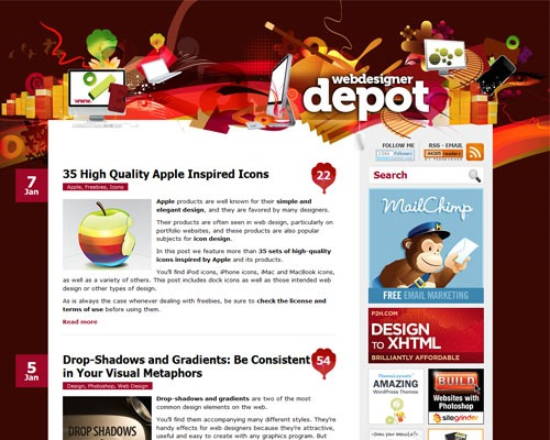 webdesigndepot 50 Most Amazing Beautiful Blog Designs