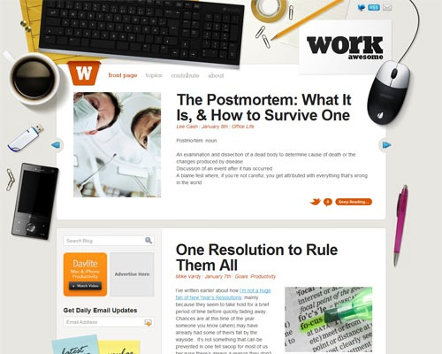 workawsome 50 Most Amazing Beautiful Blog Designs