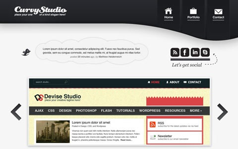 curvystudiowebsitelayout 100 Fresh New Photoshop And Illustrator Tutorials From 2010