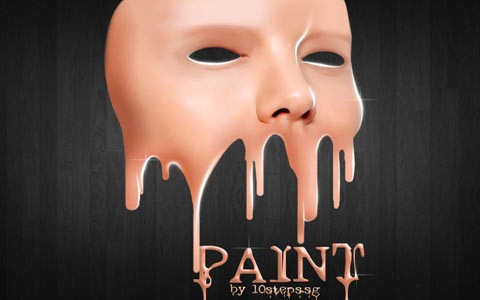 facepaintdripping 100 Fresh New Photoshop And Illustrator Tutorials From 2010