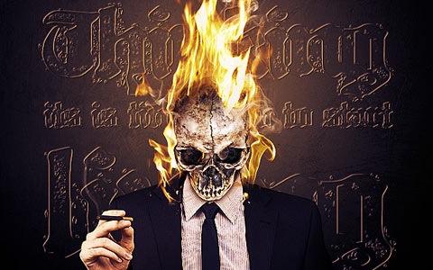 fireskull 100 Fresh New Photoshop And Illustrator Tutorials From 2010