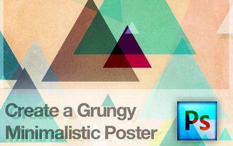 gruneminimiliticposter 100 Fresh New Photoshop And Illustrator Tutorials From 2010