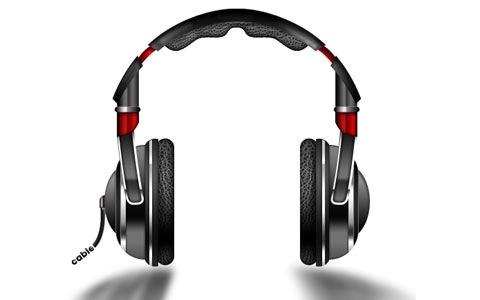 headphones 100 Fresh New Photoshop And Illustrator Tutorials From 2010