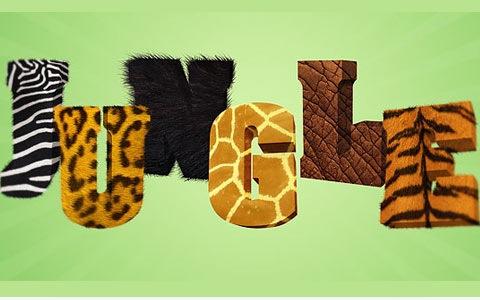 jungletexteffect 100 Fresh New Photoshop And Illustrator Tutorials From 2010