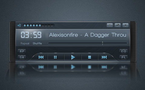 mp3player 100 Fresh New Photoshop And Illustrator Tutorials From 2010