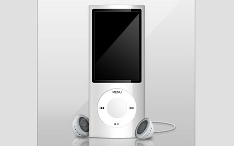 newmp3player 100 Fresh New Photoshop And Illustrator Tutorials From 2010